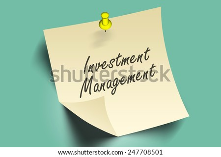 investment management words on note paper  - stock photo