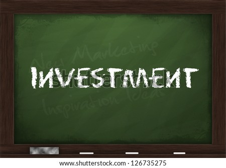 Investment on chalkboard - stock photo