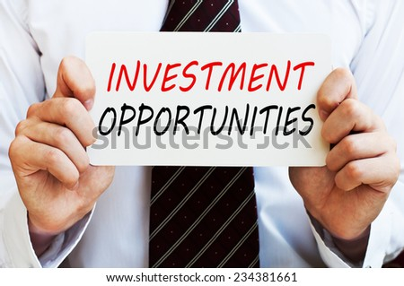Investment Opportunities - stock photo