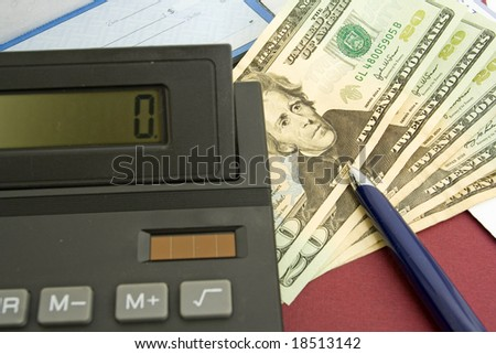 investment planning background - stock photo