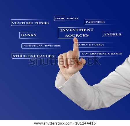 Investment sources - stock photo