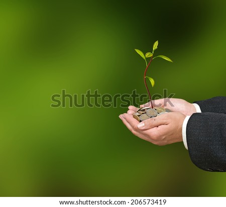 Investment to agriculture - stock photo