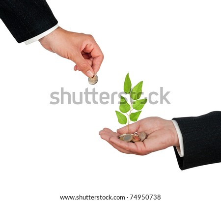 Investment to green business - stock photo