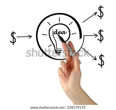 Investment to idea - stock photo
