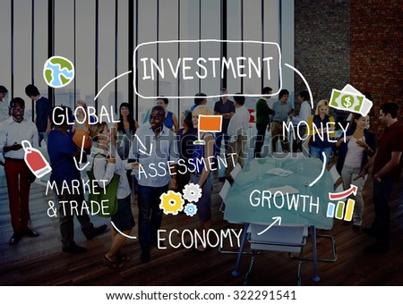 Investment Vision Planning Financial Success Global Concept - stock photo