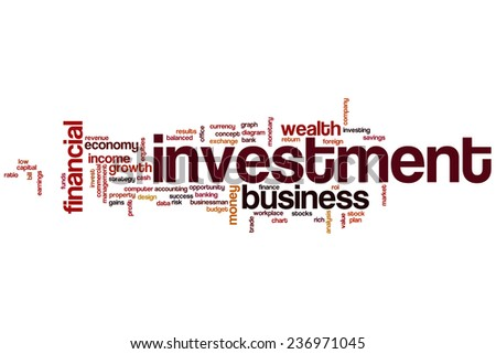 Investment word cloud concept - stock photo
