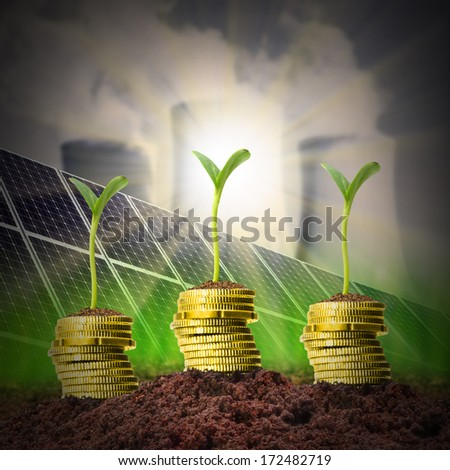 Investments in power and fuel generation.  - stock photo