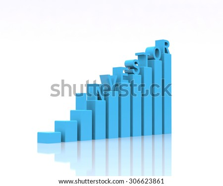 Investor text on growth chart. - stock photo