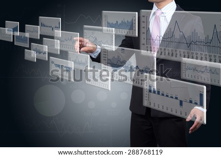 Investors are select products in the capital market. - stock photo