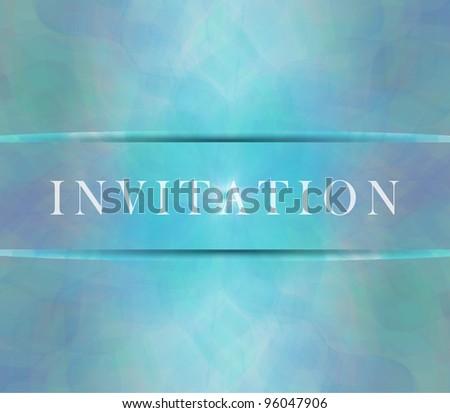 Invitation card - stock photo