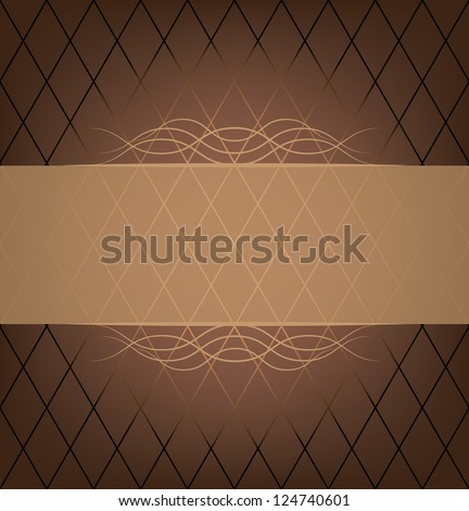 invitation card. chocolate color. (vector version also available in my gallery) - stock photo