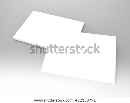 Invitation Cards 3D Render is a professional Invitation Card setup optimized for 7 x 5 in designs that will allow you to create and present a realistic display for your unique cards & invitations. - stock photo