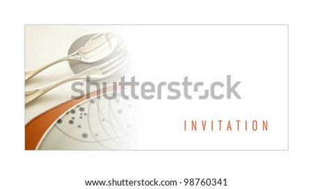 Dinner invitation stock images royalty free images vectors invitation to a dinner stopboris Choice Image