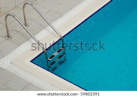 Invitation to a swimming pool - stock photo