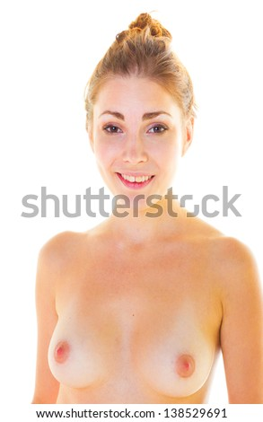 Inviting Nude Female - stock photo