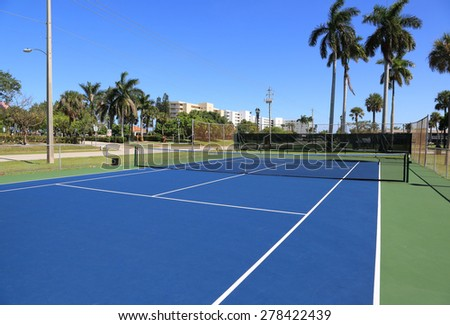 Inviting public tennis courts in Lake Park, Florida - stock photo
