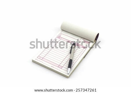 Acknowledgement Receipt For Payment Word Receipt Book Stock Images Royaltyfree Images  Vectors  Printed Receipts with Invoice Template Pdf Free Excel Invoice Book Which Open Blank Page With Pen On White Background Target Gift Receipt Lookup Word