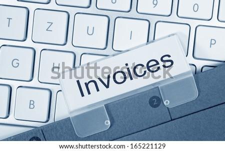 Invoices - stock photo
