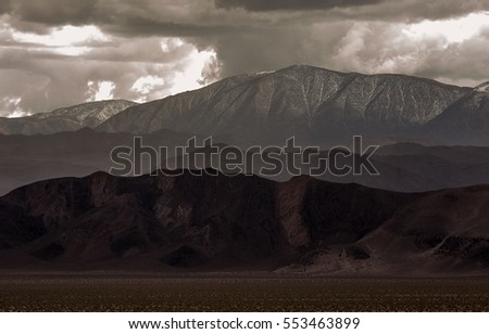 Inyo Mountains during a Thunderstorm