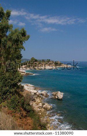 Ionian sea shore line in summer time