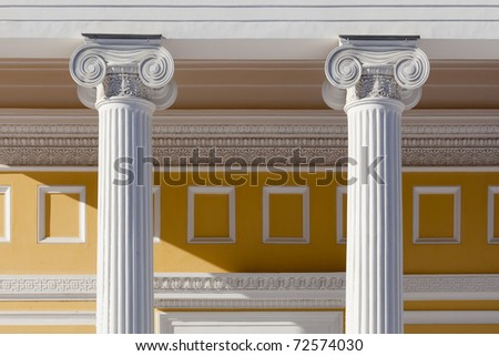 Ionic column - stock photo