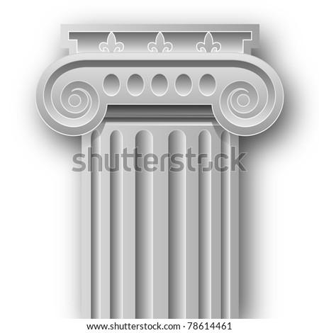 Ionic column - stock photo