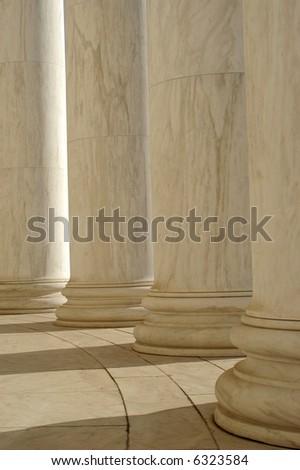 Ionic Columns - stock photo