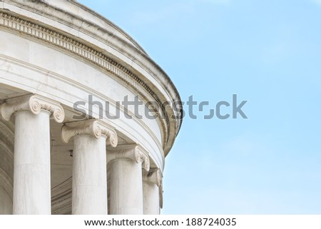 Ionic Columns at Jefferson Memorial in Washington DC