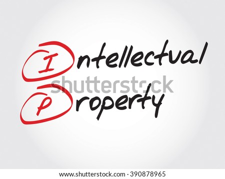 IP - Intellectual Property, acronym business concept - stock photo