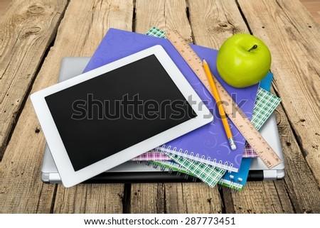 Ipad, Education, Book. - stock photo