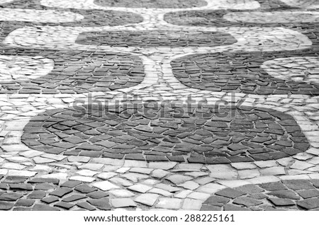 Ipanema sidewalk pattern - stock photo