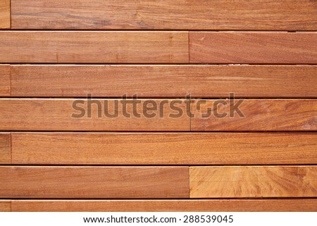 Ipe teak wood decking fence pattern tropical wood texture background - stock photo