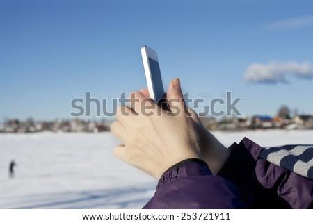 IPhone. - stock photo