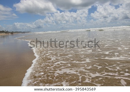 Ipojuca beach - Porto de Galinhas - Pernambuco, Brazil (March 10, 2016) - stock photo