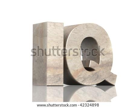 IQ - stock photo