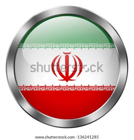 iran flag metal button
