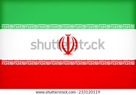 Iran flag pattern  ,vintage style - stock photo