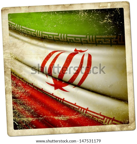 Iran grunge sticker - stock photo