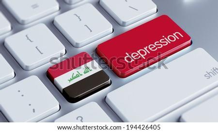 Iraq High Resolution Depression Concept - stock photo