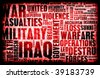 Iraq War as a Grunge Abstract Background - stock photo