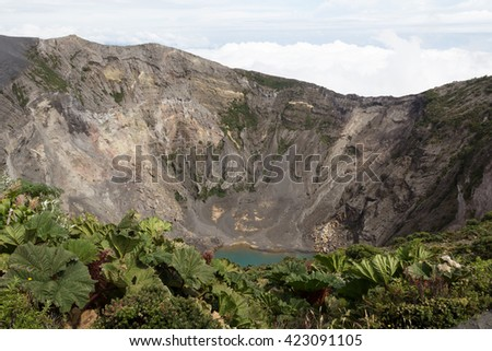 Irazu Volcano, Costa Rica - stock photo