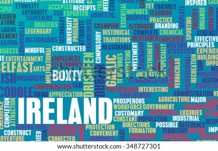 Ireland as a Country Abstract Art Concept - stock photo