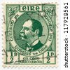 IRELAND - CIRCA 1943: A stamp printed in Ireland, shows Dr. Douglas Hyde (1880-1949), circa 1943 - stock photo
