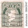 IRELAND - CIRCA 1956: A stamp printed in Ireland shows map of Ireland, series, circa 1956 - stock photo
