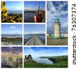 Ireland collage - stock photo