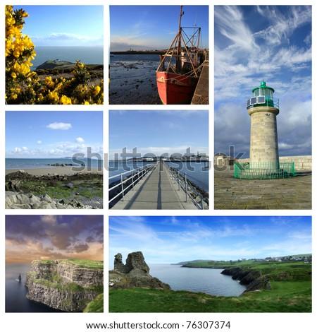 Ireland collage - stock photo