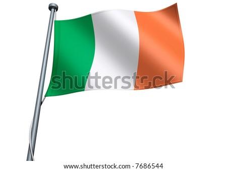 Ireland Flag - stock photo
