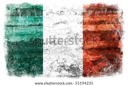 Ireland grunge flag - stock photo