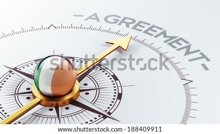 Ireland High Resolution Agreement Concept - stock photo