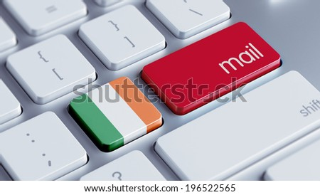 Ireland High Resolution Mail Concept - stock photo
